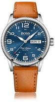 Hugo Boss 1513331 Stainless Steel Leather Strap Pilot Edition Watch One Size Assorted-Pre-Pack