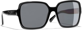 Chanel Rectangular Sunglasses CH5408 Black/Grey