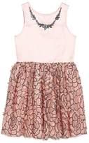 Nanette Lepore Girl's Sequin Mesh & Satin Dress