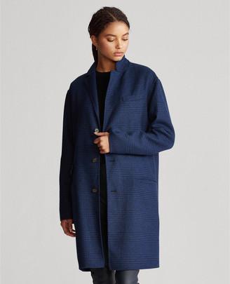 Ralph Lauren Plaid Wool-Blend Coat