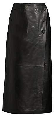 Lafayette 148 New York Women's Leyla Leather Skirt