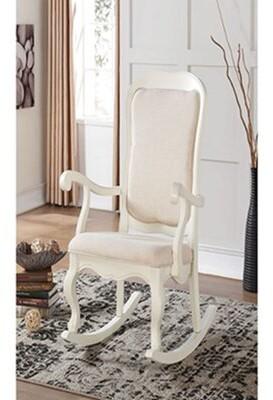 Astoria Grand Vappu Rocking Chair Color: White