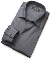 Kenneth Cole Reaction Men's Spread Collar Tonal Solid Woven Shirt