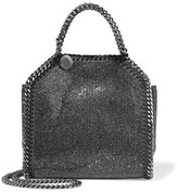 Stella McCartney The Falabella Tiny Embellished Faux Suede Shoulder Bag - Gunmetal