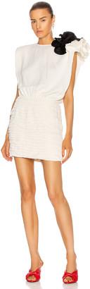 Magda Butrym Sleeveless Mini Dress With Shoulder Detail in Cream   FWRD