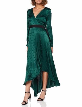 Little Mistress Women's Tasmin Polka-Dot Asymmetric Maxi Wrap Dress Party