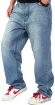 PLAY BIGG PLAYBIGG Men's Hip Hop Baggy Bottoms Denim Jeans Relaxed Pants-30