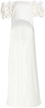 Alexia Maria Olivia Off-The-Shoulder Ruffle-Sleeve Cape Top