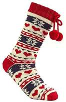 Forever Dreaming Ladies Long Knitted Slipper Socks with Full Soft Fleece Lining (S-M, )