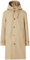 Burberry Cotton Gabardine Coat With Detachable Warmer