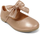 Jelly Beans Girls' Mary Janes ROSEGOLD - Rose Gold Bow-Accent Mary Jane - Girls