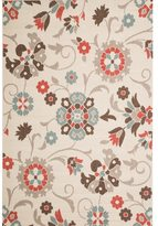 Christopher Knight Home Roxanne Telca Indoor/Outdoor Silver Floral Rug (8' x 10')