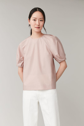 Cos Gathered-Sleeve Top