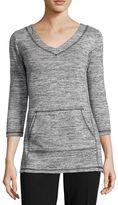 Liz Claiborne 3/4-Sleeve Kangaroo Pocket Pullover Tunic