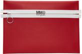 MM6 MAISON MARGIELA Red Faux-leather Zip Pouch