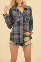 Vintage Havana Studded Flannel Top
