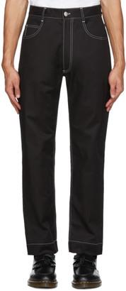 Daniel W. Fletcher Black Contrast Stitch Jeans