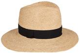 Veronica Beard Natural Straw Short-Brim Hat