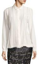 Elie Tahari Elaine Embellished Silk Blouse