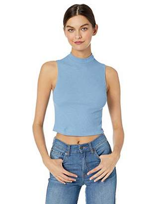 Only Hearts Women's Waffle Knit Mock Neck Top