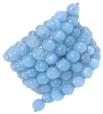 Savvy Cie Smoky Blue Agate Beaded Wrap Bracelet