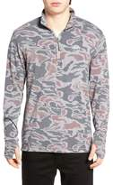 RVCA Frequency Camo Quarter Zip Pullover