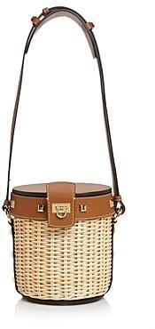Salvatore Ferragamo Small Wicker Bucket Bag