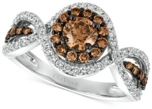 LeVian Le Vian Chocolatier Diamond Ring (1-1/6 ct. t.w.) in 14k White Gold