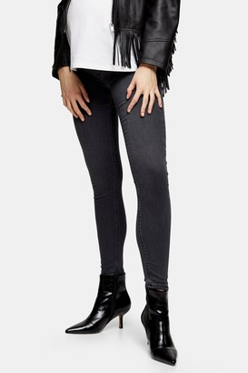 Topshop Womens **Maternity Washed Black Joni Skinny Jeans - Washed Black