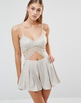 Missguided Lace Cut Out Romper