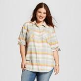Merona Women's Plus Size Plaid Flannel Favorite Shirt