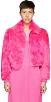 Sies Marjan Pink Fur Muffy Bomber Jacket