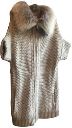 Yves Salomon Ecru Cashmere Coat for Women