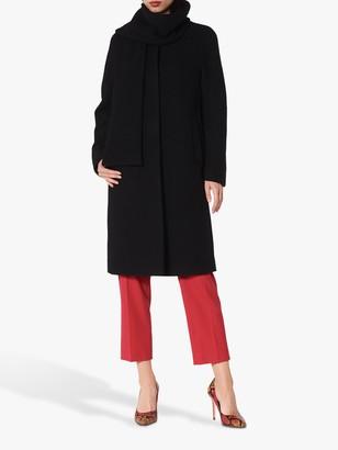 LK Bennett Mimi Wool Coat, Black