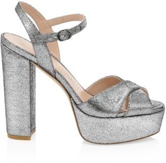 Stuart Weitzman Soliesse Glitter Platform Sandals