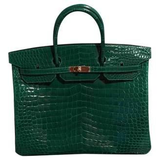 Hermes Birkin 40 Green Crocodile Handbags
