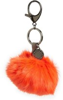 Rebecca Minkoff Genuine Rabbit Fur Pom Bag Charm