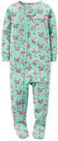 Carter's Baby Girl Floral Footed Pajamas