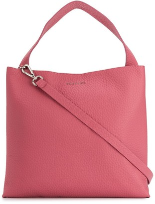 Orciani Pebbled Leather Tote Bag