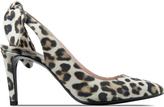 Carven Multicolor Eca Plat Noeud Printed Nubuck Heels