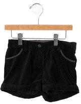 Bonpoint Girls' Printed Velvet Shorts