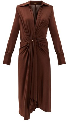 Dodo Bar Or Lorenne V-neck Jersey Dress - Dark Brown