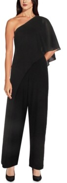 Adrianna Papell One-Shoulder Overlay Jumpsuit