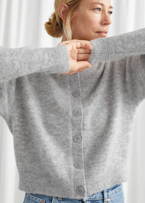 And other stories Fuzzy Button Up Cardigan