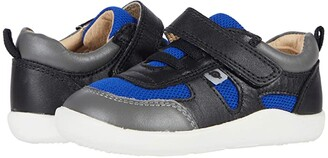 Old Soles Ground Control (Toddler) (Black/Cobalt Mesh/Grey) Boy's Shoes