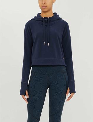 Sweaty Betty Escape cropped cotton-blend hoody