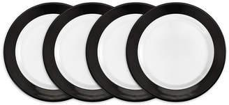 Q Squared Moonbeam Ring Black Melamine 4-Pc. Salad Plate Set