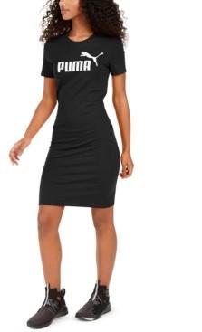 Puma Women's Ess Logo Fitted T-Shirt Dress