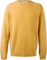 Marni Contrast top stitch sweater - men - Cashmere - 44