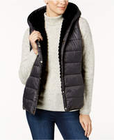 Charter Club Hooded Faux-Fur Reversible Vest, Created for Macy's